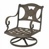The Amalia Collection Cast Aluminum Patio Furniture Swivel Club Chair With Cushion