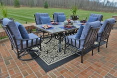 Amia Luxury 6-Person Cast Aluminum Patio Furniture Dining Set