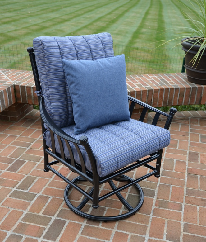 amia 8 piece luxury cast aluminum patio furniture deep
