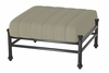 The Amia Collection Cast Aluminum Patio Furniture Ottoman With Cushion