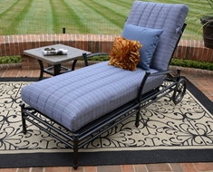 Amia Luxury Cast Aluminum Patio Furniture Chaise Lounge