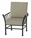 The Amia Collection Cast Aluminum Patio Furniture Stationary Dining Chair With Cushion