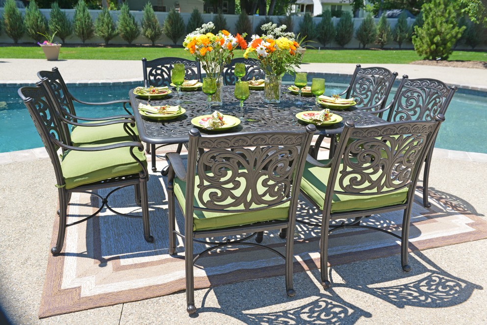 Cast aluminum patio furniture cast aluminum for Terrace furniture