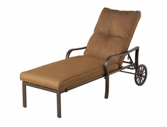 The Crestwood Collection By Alu-Mont Cast Aluminum Chaise Lounge