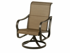 The Crestwood Collection By Alu-Mont Cast Aluminum Sling Swivel Dining Chair