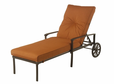 The Edgewood By Alu-Mont Luxury Cast Aluminum Patio Furniture Adjustable Chaise Lounge