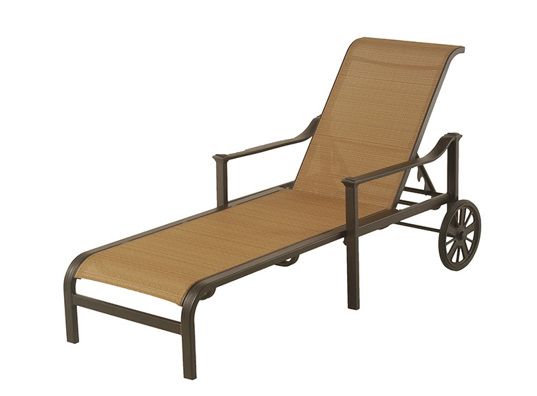 The Edgewood By Alu Mont Luxury Cast Aluminum Patio Furniture Adjustable  Sling Chaise Lounge