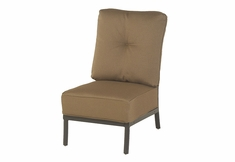 The Edgewood By Alu-Mont Luxury Cast Aluminum Patio Furniture Armless Club Chair