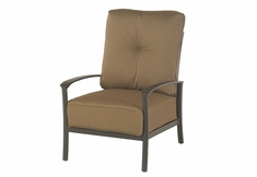 The Edgewood By Alu-Mont Luxury Cast Aluminum Patio Furniture Club Chair