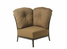 The Edgewood By Alu-Mont Luxury Cast Aluminum Patio Furniture Corner Club Chair