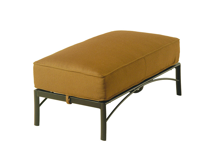 The Edgewood By Alu Mont Luxury Cast Aluminum Patio Furniture Double Ottoman