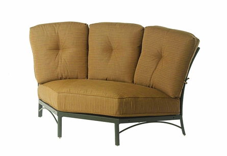 The Edgewood By Alu-Mont Luxury Cast Aluminum Patio Furniture Large Curved Corner Club Chair