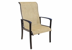 The Edgewood Collection By Alu-Mont Cast Aluminum Sling Dining Chair