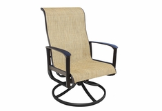 The Edgewood Collection By Alu-Mont Cast Aluminum Sling Swivel Dining Chair