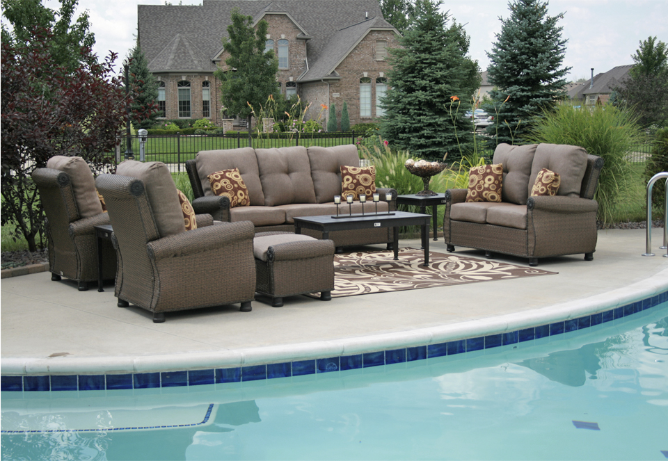 giovanna luxury 9 piece all weather wicker cast aluminum patio