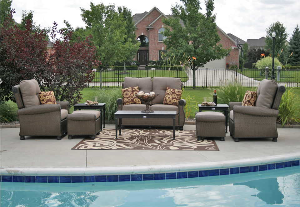 Giovanna Luxury All Weather Wicker Aluminum Patio