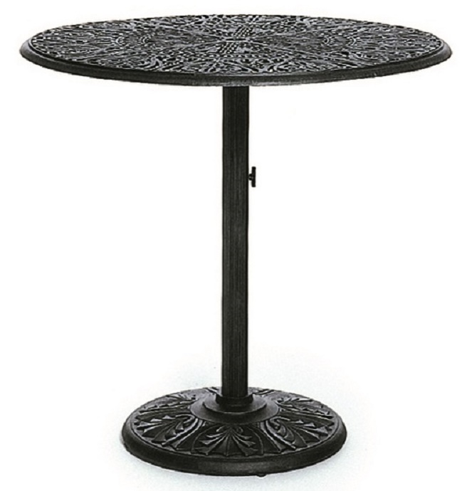 grand tuscany 42 round luxury cast aluminum bar height table by hanamint. Black Bedroom Furniture Sets. Home Design Ideas