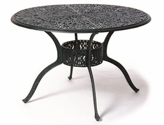 "Grand Tuscany By Hanamint Luxury Cast Aluminum Patio Furniture 48"" Round Dining Table"