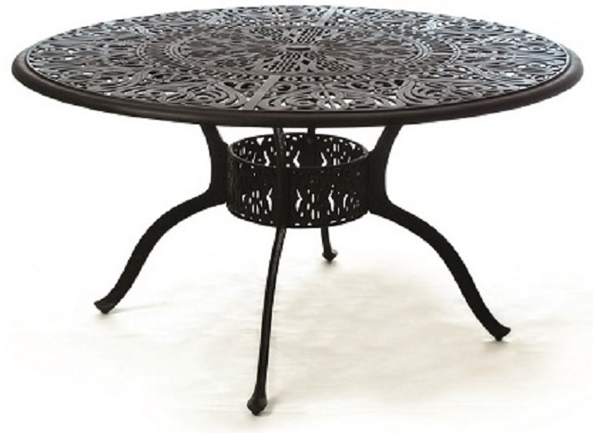 Grand Tuscany By Hanamint Luxury Cast Aluminum 54 Patio Dining Table Lazy Susan