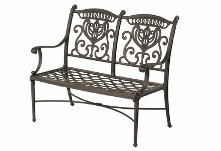 Grand Tuscany By Hanamint Luxury Cast Aluminum Patio Furniture Bench