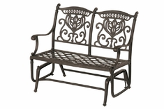 Grand Tuscany By Hanamint Luxury Cast Aluminum Patio Furniture Double Glider