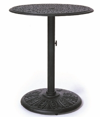 "Grand Tuscany By Hanamint Luxury Cast Aluminum 30"" Pedestal Counter Height Table"