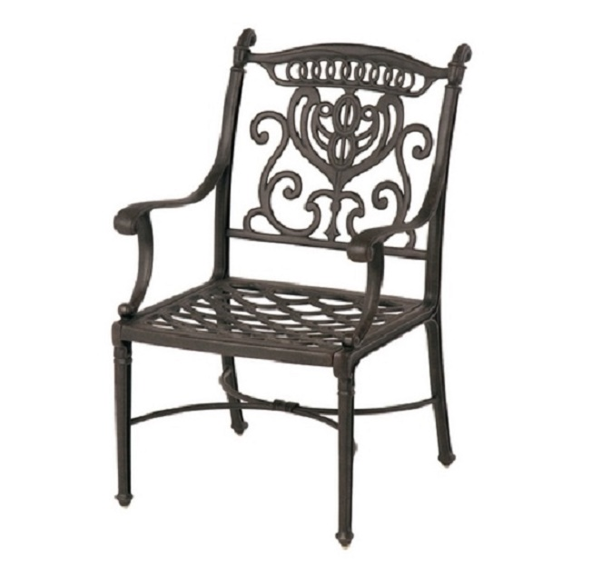 Grand Tuscany Luxury Cast Aluminum Stationary Dining Chair