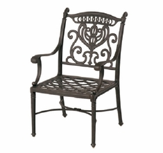 Grand Tuscany By Hanamint Luxury Cast Aluminum Patio Furniture Stationary Dining Chair