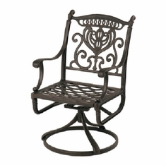 Grand Tuscany By Hanamint Luxury Cast Aluminum Patio Furniture Swivel Dining Chair