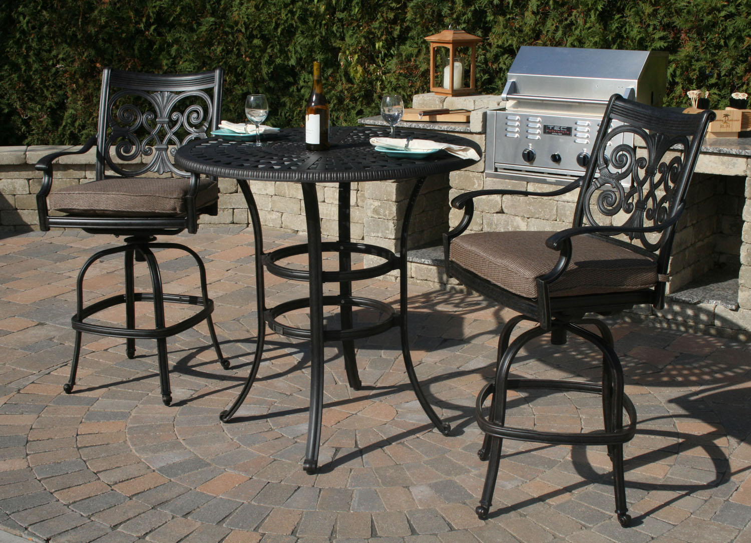 Bar height patio furniture clearance balcony height for Bar height patio furniture
