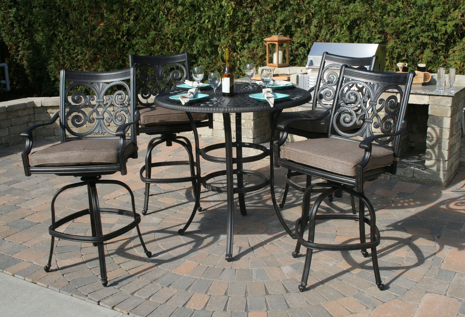 Bar height patio furniture for Patio furniture sets