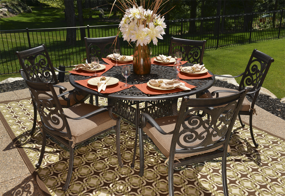 Cast aluminum patio furniture cast aluminum for Aluminum patio furniture