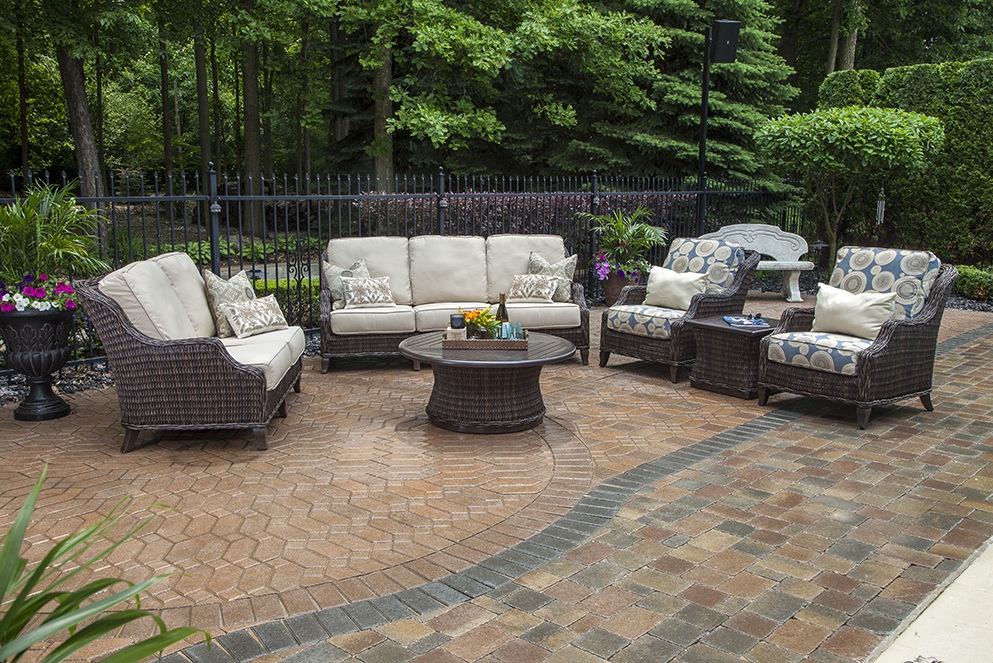 Mila Collection 6 Piece All Weather Wicker Patio Furniture Deep Seating Set