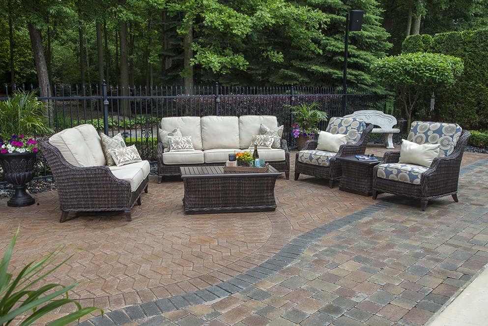 The mila collection 6 piece all weather wicker patio for All weather wicker patio furniture