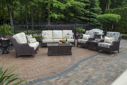 Mila Collection 6-Piece All Weather Wicker Patio Furniture Deep Seating Set W/Sq Coffee Table