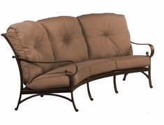 The Santa Barbara Collection By Alu-Mont Cast Aluminum Crescent Sofa