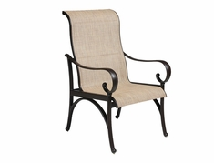 The Santa Barbara Collection By Alu-Mont Cast Aluminum Sling Dining Chair