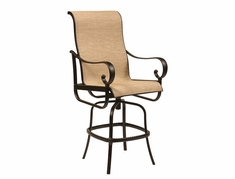 The Santa Barbara Collection By Alu-Mont Cast Aluminum Sling Swivel Bar Stool