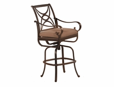 The Santa Barbara Collection By Alu-Mont Cast Aluminum Swivel Bar Stool