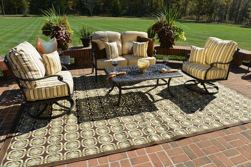 Serena 5-Piece Luxury Cast Aluminum Patio Furniture Deep