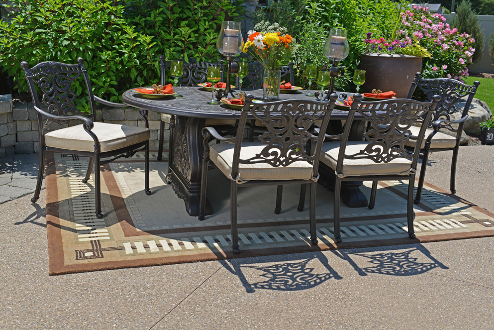 Serena Luxury 6-Person All Welded Cast Aluminum Patio
