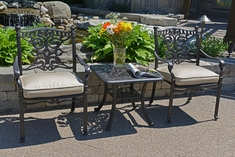 Serena Luxury All Welded Cast Aluminum Patio Furniture Chat Set