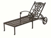 The Serena Collection Cast Aluminum Patio Furniture Chaise Lounge With Cushion