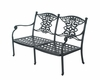 The Serena Collection Cast Aluminum Patio Furniture Loveseat With Cushion