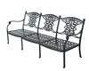 The Serena Collection Cast Aluminum Patio Furniture Sofa With Cushion