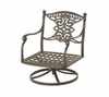 The Serena Collection Cast Aluminum Patio Furniture Swivel Club Chair With Cushion