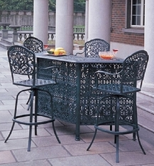 Tuscany By Hanamint Luxury Cast Aluminum Patio Furniture 4-Person Bar Height Set
