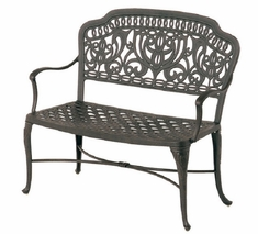 Tuscany By Hanamint Luxury Cast Aluminum Patio Furniture Bench