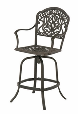 Tuscany By Hanamint Luxury Cast Aluminum Patio Furniture Swivel Counter Height Chair