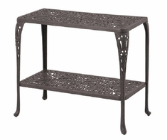 Tuscany By Hanamint Luxury Cast Aluminum Patio Furniture Console Table